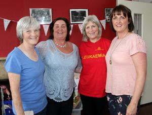 Regina Kehoe, Mary Thompson, Joe Whitmore and Catriona Walsh at the vintage tea party in Castlebridge Community Centre in aid of the Bone Marrow Trust.
