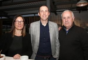 Liz Hore, head of Enterprise, Wexford County Council, Michael Drea, Gorey district manager, and Mick McCormack, New Ross district manager