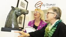 Maura Bell, deputy mayor of Wexford, who officially opened the gallery and Gilly Thomas