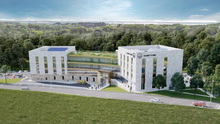 An artist's impression of the proposed Slaney Clinic private hospital