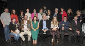 All the prizewinners at Wexford Drama Festival on Friday night