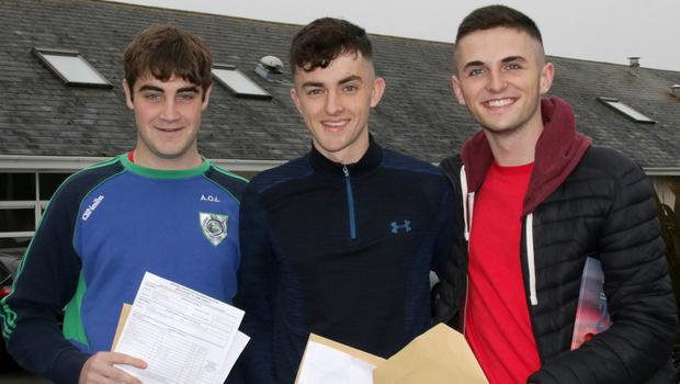 St Peter's College students Adam O'Leary-Murphy (Barntown), Dáire Reville (Wexford) and Robbie O'Leary (Barntown).