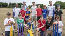 The 10 to 14 year olds at Wexford Wanderers cricket camp