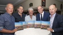 At the launch of 'From Farmlands to Fairways' in St Helen's Bay Golf Club (from left): Tom Enright, CE, Wexford County Council; Cllr Ger Carthy; author Larry Byrne; Minister Paul Kehoe; and Cllr Frank Staples