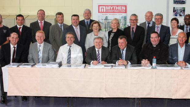 ABOVE; Some of the attendees at the signing last Monday. LEFT: Mayor Ger Carthy, who says he was snubbed.