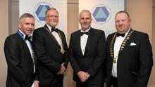 John O'Shaughnessy, CIF South East Branch Chairman; Pat Lucey, CIF President, Anthony Neville, CIF South East Branch Vice-Chairman; Lorchan Hoyne, CIF Mid-West Branch Chairman