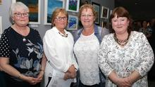 Organisers of the exhibition, Anne Greene, Anne Marie Kearns, Gina O'Connor and Eimer Tansey