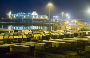 Rosslare Europort where the truck driver was found dead on Friday evening