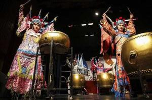 Drummers from the Shanghai Empireeast Group who will perform at the 'Street' in Wexford County Hall this coming Saturday