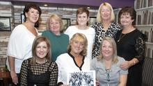 Former pupils of the Faythe School sixth class of 1978 at a reunion in The Swan Bar on Saturday night (from left) back, Theresa Byrne, Noreen Healy, Deirdre Kennedy, Catherine O'Connor and Catherine O'Connor; seated, Esther Mahoney, Trisha O'Rourke and Tina Hore