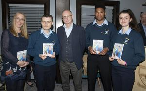 Siobhan Cronin (teacher), Shane Waters, Billy Roche (course tutor), Sam Delaney and Kira Bates-Crosbie, all of whom read from the book at the launch