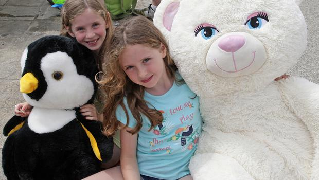 Faye and Ava Berry from Cleariestown at the Teddy Bears Picnic.