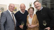 Donal McGuire Wexford Liverpool Supporters Club, Liverpool legend Phil Neal, Maria McGuire and James O'Connor of Greenacres at the launch