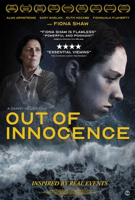 The movie poster for Out of Innocence produced by Paul Cummins