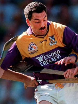 Those were the days: Billy Byrne playing for Wexford in the 1997 All Ireland semi-final against Tipperary at Croke Park