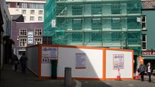 No through road: The hoarding in front of the former Permanent TSB building in the Bullring