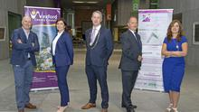 Tom Banville (Local Enterprise Office), Olive Power (Zurich), Niall Reck (Chamber President), Tom Enright (CE Wexford County Council) and Enda Kavanagh (CEO Wexford Chamber)