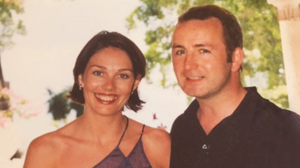 Chris and Niamh on their wedding day in Barbados in 1998