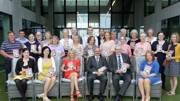 At the launch of the Visit Wexford brochure at Wexford County Council headquarters were, front row: Rebecca McGuire,Talbot Hotel; Siobhan O'Neill, County Tourism Wexford County Council; Louise Jordan, TL Marketing; Colm Neville, chairperson Visit Wexford; Tony Larkin, Director of Services Wexford County Council and Sarah Caufield Visit Wexford.