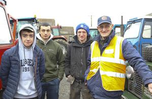 Seán Dempsey, Robert Scallan and Conor Doyle from Ballymurn and Paddy Kenny from Curracloe