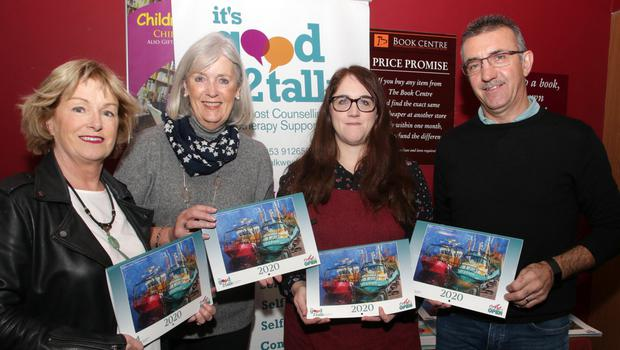 At the launch: Alma Hynes, Madeleine Quirke, Charlotte El Moussati (manager, Book Centre) and Martin Storey