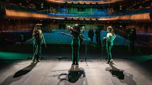 Members of Maca from New Ross perform in an empty Opera House