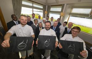 Reeds restaurant Ferrycarrig Hotel. Pictured are in front are Karl Mc Donagh  Reeds Chef de Partie, Tony Carty, Head Chef and Jean Ernot  Junior Sous Chef Reeds. Picture: Patrick Browne