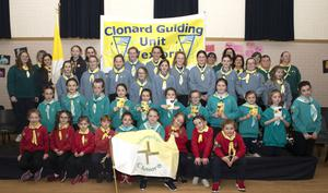 At the Clonard Guides 40th anniversary enrolment for guides, brigins, cygnets and leaders in Clonard Community Centre.