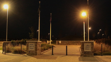 The new streetlights are a welcome addition to the Min Ryan Park