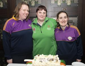 Lisa Redmond with best pals Carole Ryan and Jenna Carty at the function in the Talbot Hotel