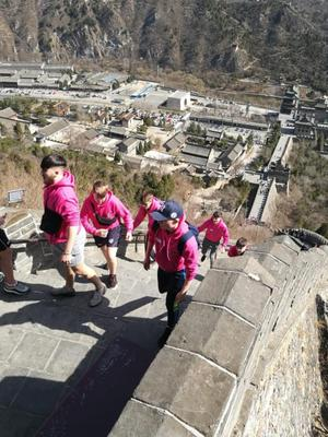 CBS students climbing The Great Wall of China on last year's trip