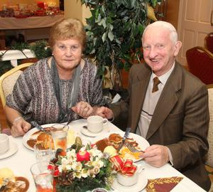 At the Taghmon Senior Citizens Christmas Party in the Oak Tree Foulksmills last Tuesday night were Margaret and Lar Kelly