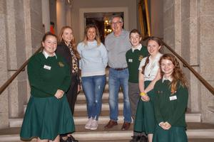 Representing FCJ Bunclody were: Emma Warren; Anne Carroll and Leanne Goff, guidance counsellors; Bob Heeney, Commission for Mental Health Canada; Ben Holmes; Emer Byrne; and Skye Turner