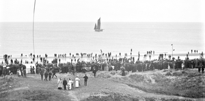 A busy day at Rosslare Strand, photographed by Robert French between 1865 and 1914. All photos courtesy of the National Library of Ireland