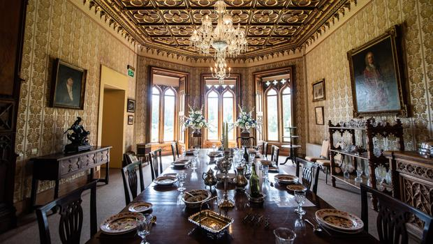 The impressive dining room