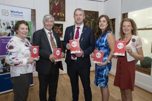 Denise Farrell; Mayor Tony Dempsey, who launched the guide; Niall Reck, Chamber President; Enda Kavanagh, Wexford Chamber CEO; and Tracey Morgan