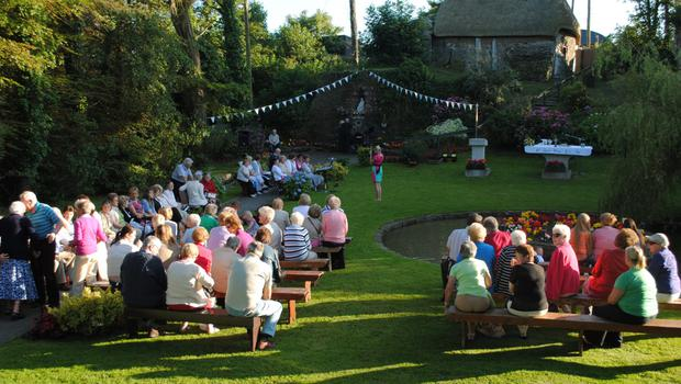 Guests enjoying the sunshine at last year's festival in Tomhaggard.