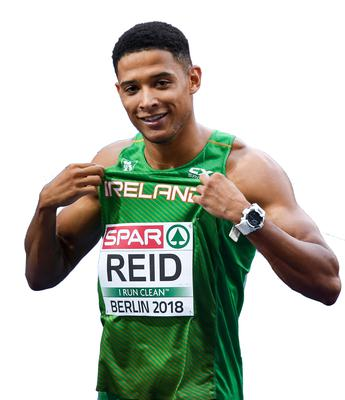 Sprinter Leon Reid who qualified for the 200m final