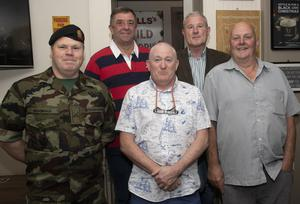 Commandant Enda McDonald with Sgt. Andy Carthy, Sgt. Frank Murphy, Capt. Paul Bolger and Cpl. Michael Mahoney. Missing is CQMS P.J. Walker