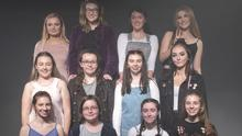 Members of Bare Cheek Theatre Company who presented 'Rate Me' in Wexford Arts Centre in Association with County Wexford Youth Theatre.