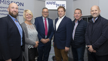 Kirk Robinson, Yvonne Tomlinson, Steve Welsh, Tom Rowe, Michael Hayes and Andrew Flavell at the 1st anniversary and official opening celebrations at Kare Plus on Crescent Quay, Wexford