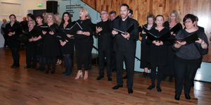 Members of Wexford Light Opera Society singing in the National Opera House