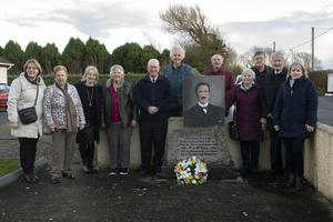 At the wreath laying marking the 100th anniversary of the death of PJ McCall: Betty Fitzsimons, Marie Browne, Mary Egan, Anne Lambert, Eddie McDonald, Willie Considine, Phil Berry, Eileen Byrne, Paddy Byrne, Paddy Berry and Mairead Murray