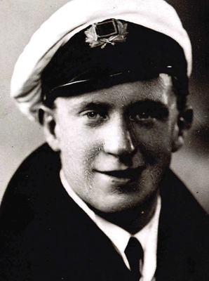 A young Mark Higgins having just joined the Merchant Navy.