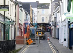 Work at Henrietta Street as part of the Crescent Quay revamp