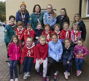 The Piercestown Girl Guides all set for the 5km charity walk for Ronald McDonald House at St Martin's GAA club