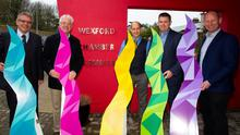At the launch of the Wexford Business Awards: Adrian Twomey (Wexford Chamber), Diarmuid Devereux (Gorey Chamber), Jonathan Keenan (New Ross Chamber), Karl Fitzpatrick (Wexford Chamber) and Lorcan Kinsella (New Ross Chamber)