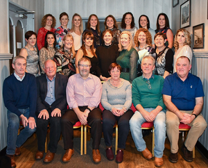 At the get together celebrating the 20th anniversary of the Shelmaliers ladies team's All-Ireland win, in The Porter House, Castlebridge