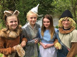 Aoife Doyle, Amy Fortune, Caitlin Laffin and Faye Jordon who are playing lead roles in 'Wicked Of Oz', the Superstars Stage Academy's production at the Dun Mhuire on Saturday