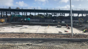Ongoing work at the OPW site at Rosslare Harbour